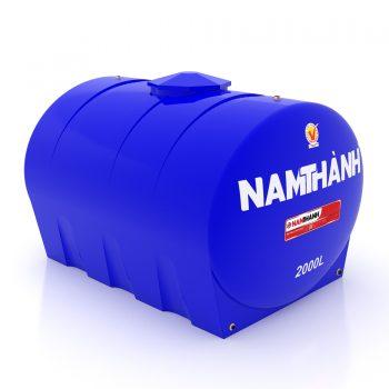 Bồn Nước Nhựa Tiêu Chuẩn 2000 Lít Ngang Nam Thành
